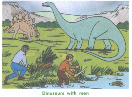 creationism - dinosaurs with humans