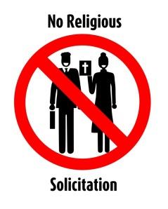No Religious Solicitation
