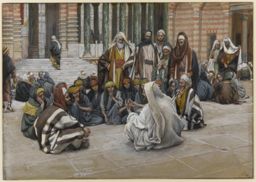 Jesus teaching at the temple