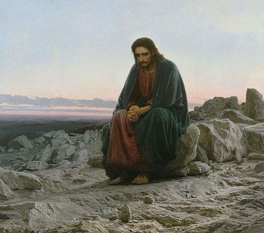 Russian painter I.N. Kramskoi - Christ in the Desert