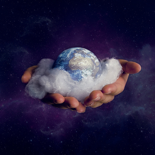 God holding the earth