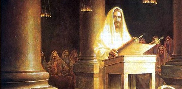 Jesus in the synagogue of Nazareth