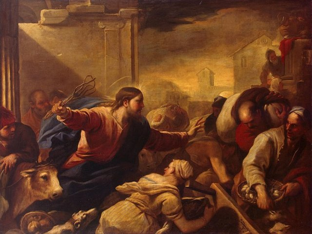 Luca Giordano Expulsion of the Money Changers; mid-1670s
