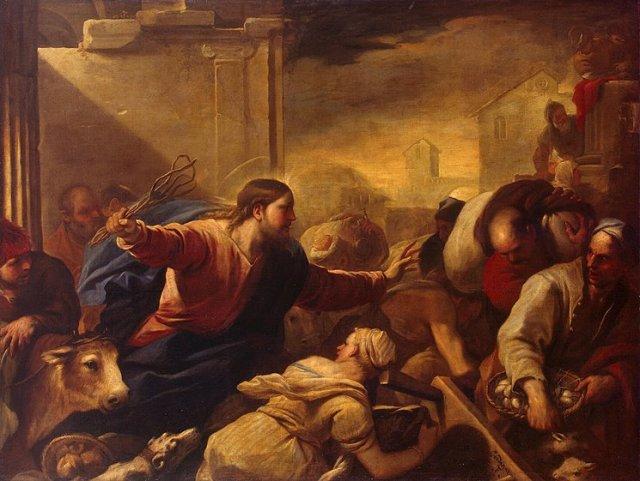 Luca Giordano Expulsion of the Money Changers; mid-1670s