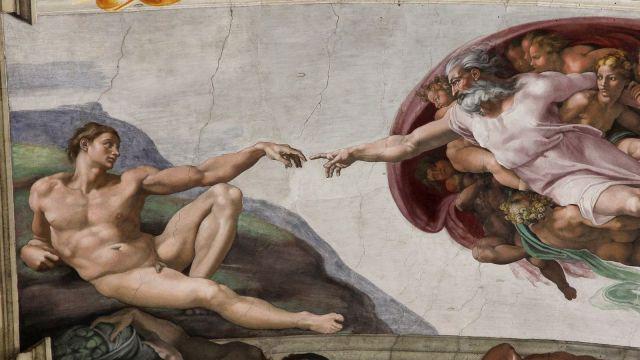 Adam's Creation, Sistine Chapel ceiling by Michelangelo