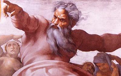 Angry, violent God
